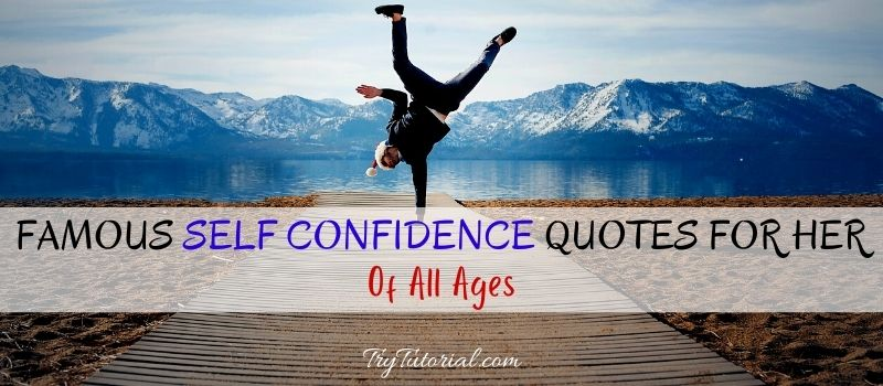 Self Confidence Quotes For Her