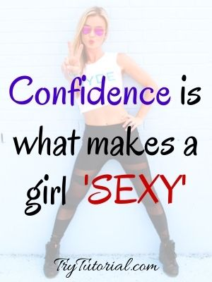 Self-Confident Quotes For Sexy Woman