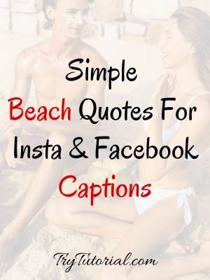Simple Beach Quotes For Instagram Captions