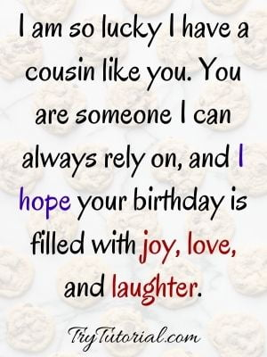 Special Happy Birthday To Lil Cousin Quotes