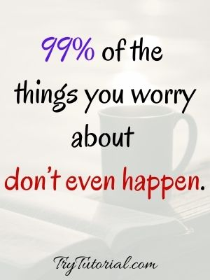 Spiritual Quotes About Worry