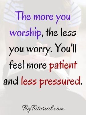 Spiritual Worry Quote