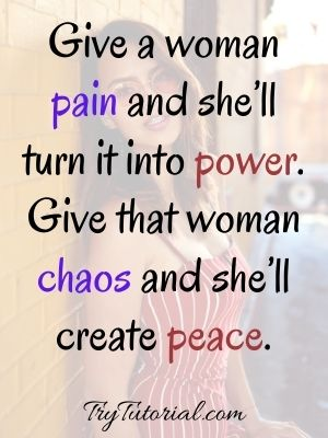 Strong Proud Woman Quotes For Caption