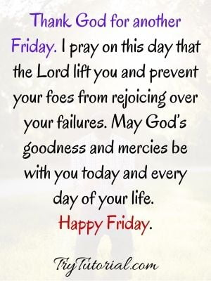 Thank God Its Friday Blessings