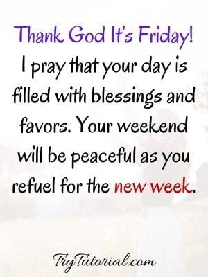 Thank God Its Friday Prayer