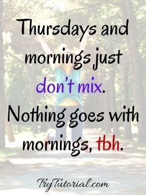 Thursday Good Morning Wish Image