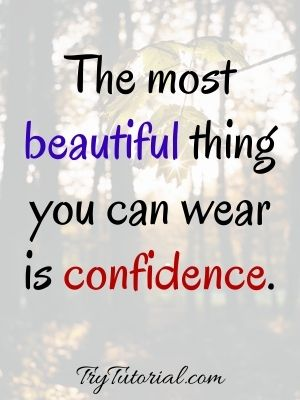 Useful Self Confidence Quotes For Her