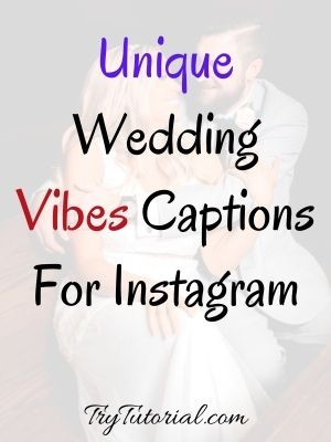 Wedding Vibes Captions For Instagram
