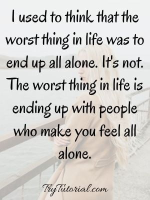 Alone Quotes For Girls On Motivation