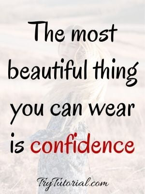 Beauty Quotes About Self Confidence