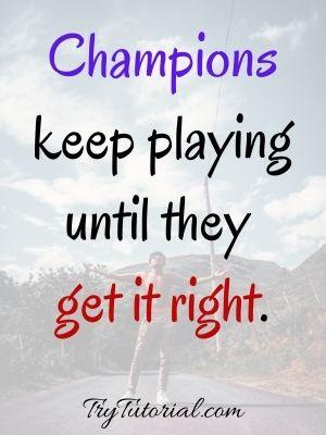 Champion Self Improvement Quotes