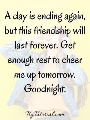 Cheer Up Good Night Text For Friends