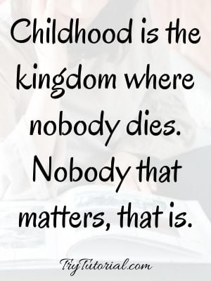 Childhood Inspirational Quotes