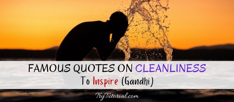 Famous Quotes On Cleanliness