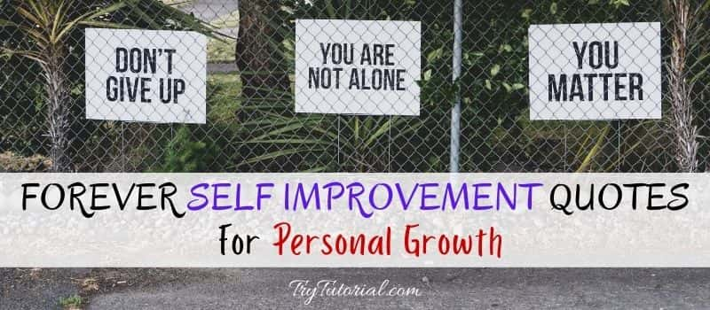 Forever Self Improvement Quotes For Personal Growth