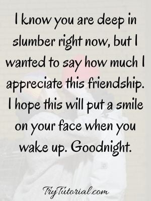 Inspirational Good Night Text For Friends