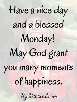 Inspirational Monday Blessings Image