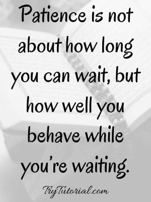 Islamic Quotes About Patience