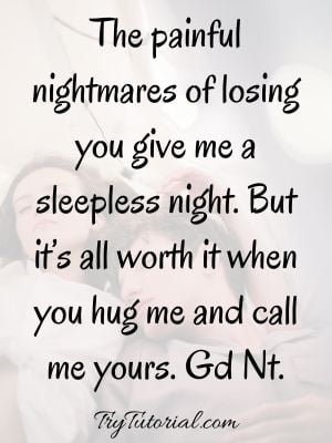 Long Distance Romantic Good Night Message For Him