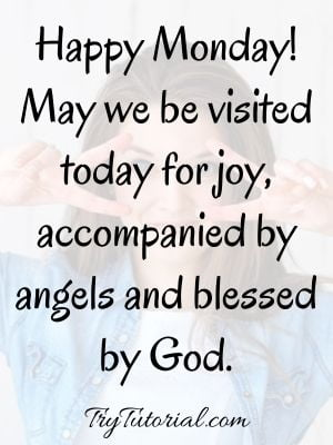 Monday Inspirational Blessings Image