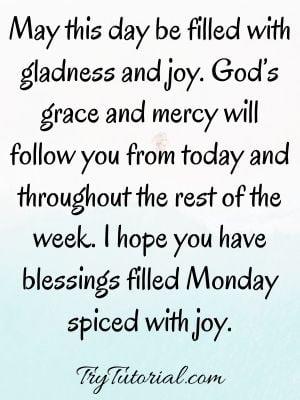 Monday Prayers