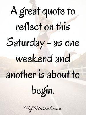 Morning Motivation On Saturday