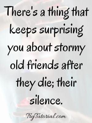 Remembering passed away friend status