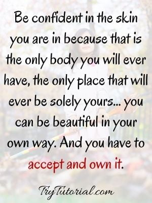 Self Confidence Quotes About Beauty