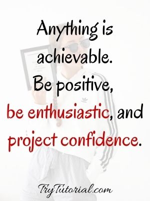 Self Inspirational Confidence Quotes