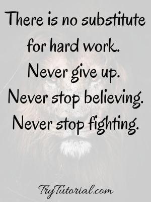 Short  Fighting Spirit Quotes