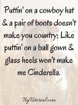Tough Cowboy Country Girl Quotes