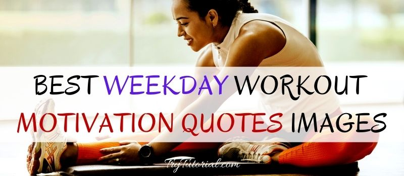 Weekday Workout Motivation Quotes