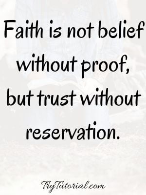 Be Strong Have Faith In God Quotes