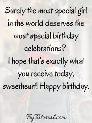 Birthday Wishes For Special Girl