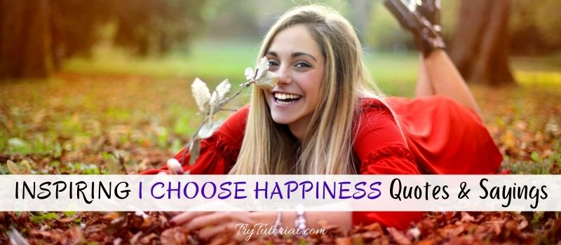 I Choose Happiness Quotes &  Sayings