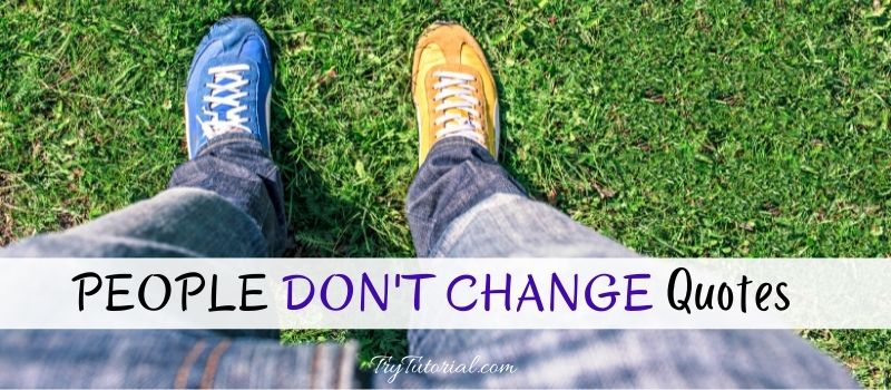 People Don't Change Quotes