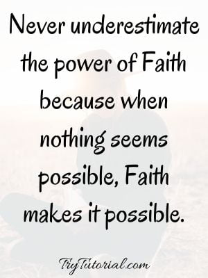 Power Of Faith Quotes Images