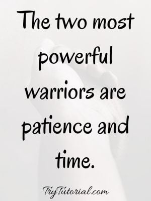 Quotes About Time And Patience