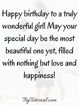 Special Birthday Wishes For Girls