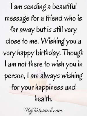 long distance best friend birthday quotes