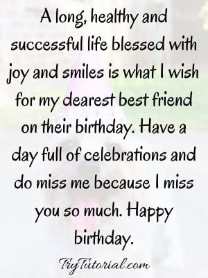 meaningful birthday message for best friend